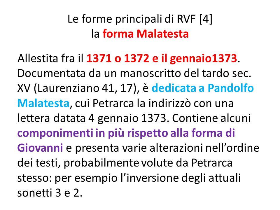 Le forme principali di RVF [4] la forma Malatesta
